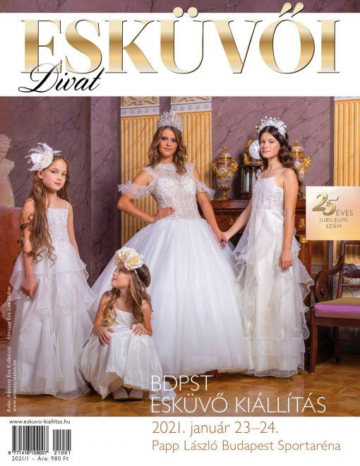 Esküvői Divat magazin – címlap 2021/1, kiemelt kép
